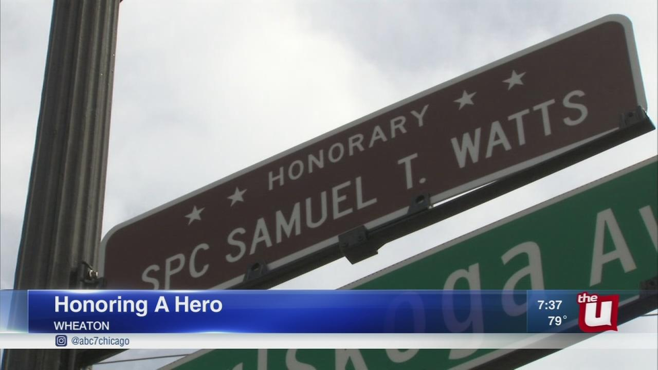 Wheaton street renamed to honor fallen soldier