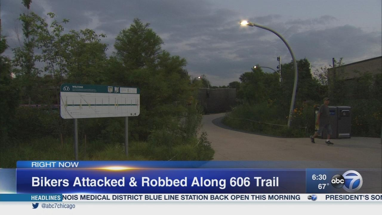 Bicyclists robbed on 606 trail