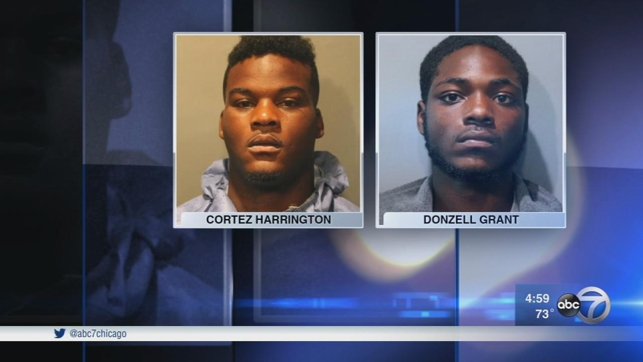 2 accused of shooting officer appear in court