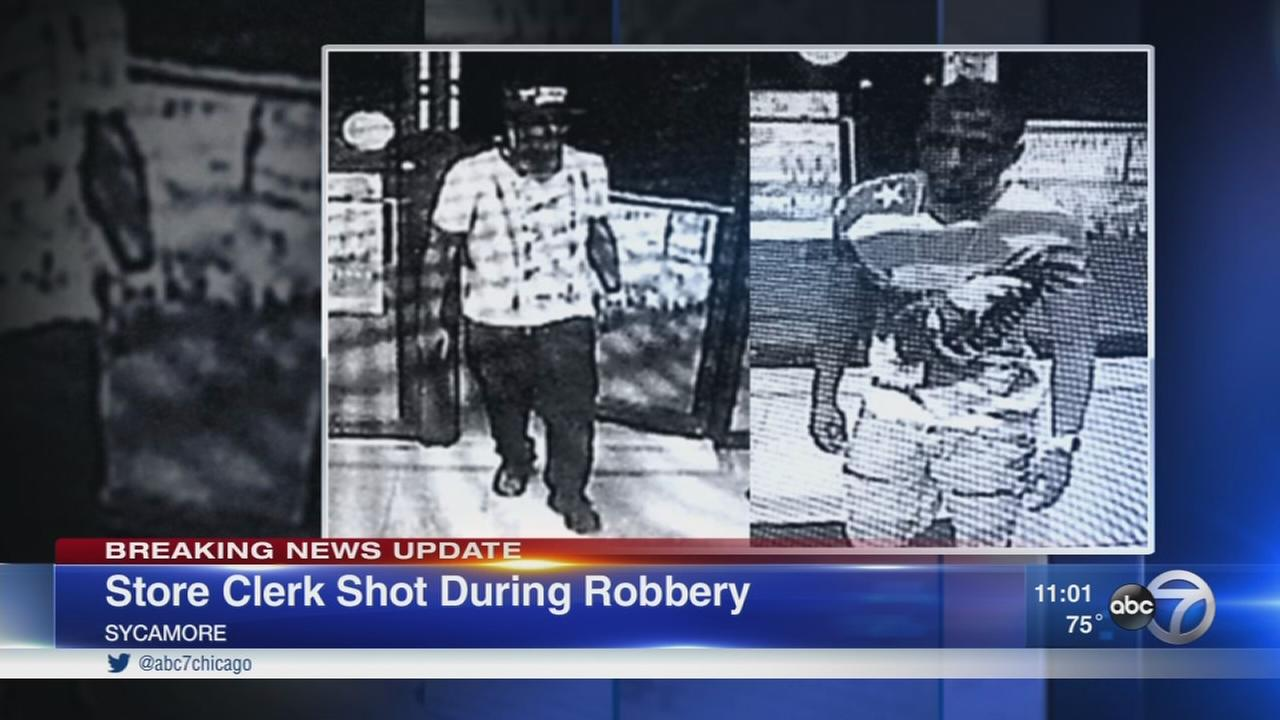 Clerk shot during Sycamore robbery