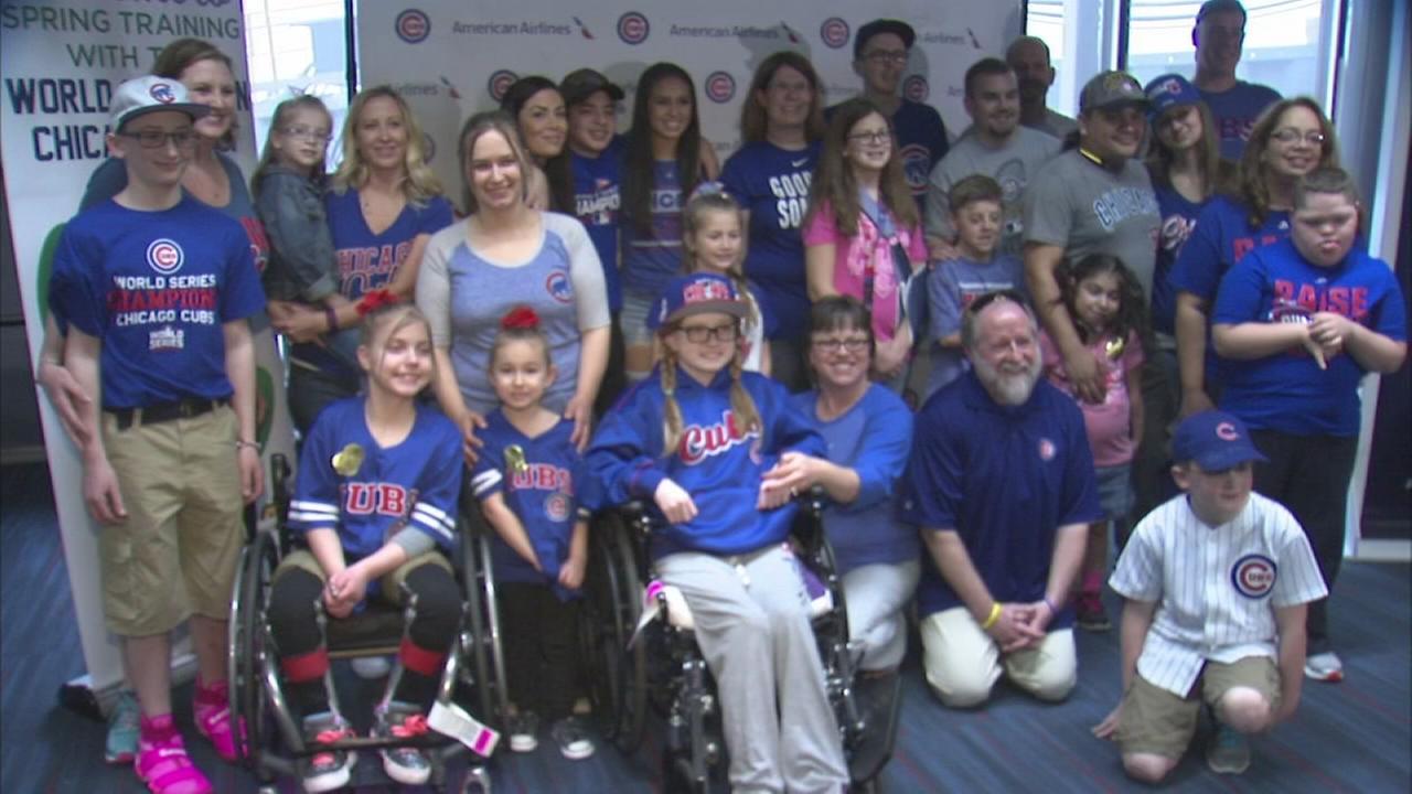 Pediatric patients reunited at Wrigley Field