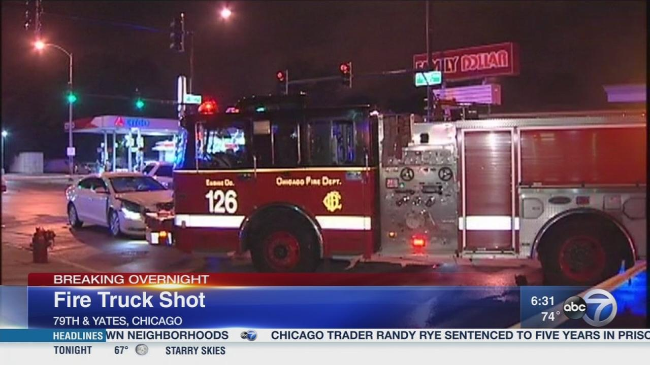 Bullet strikes fire truck on South Side