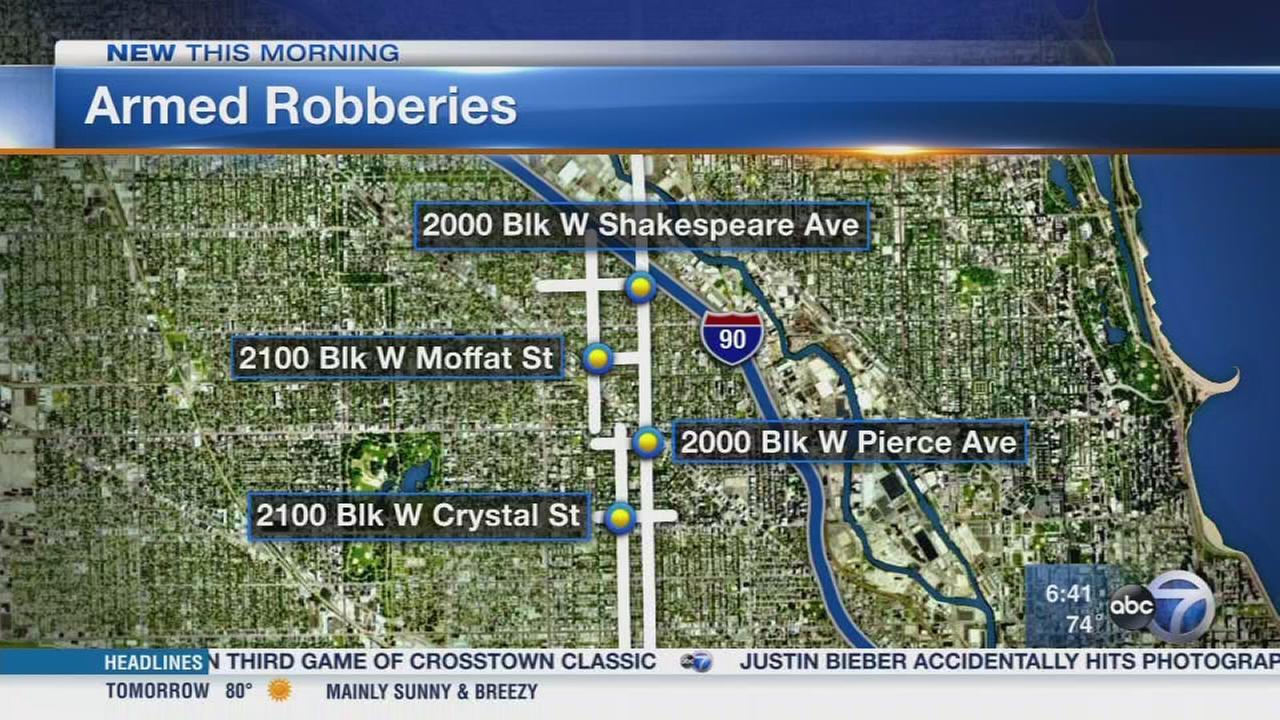 Armed robbers target Wicker Park and Bucktown
