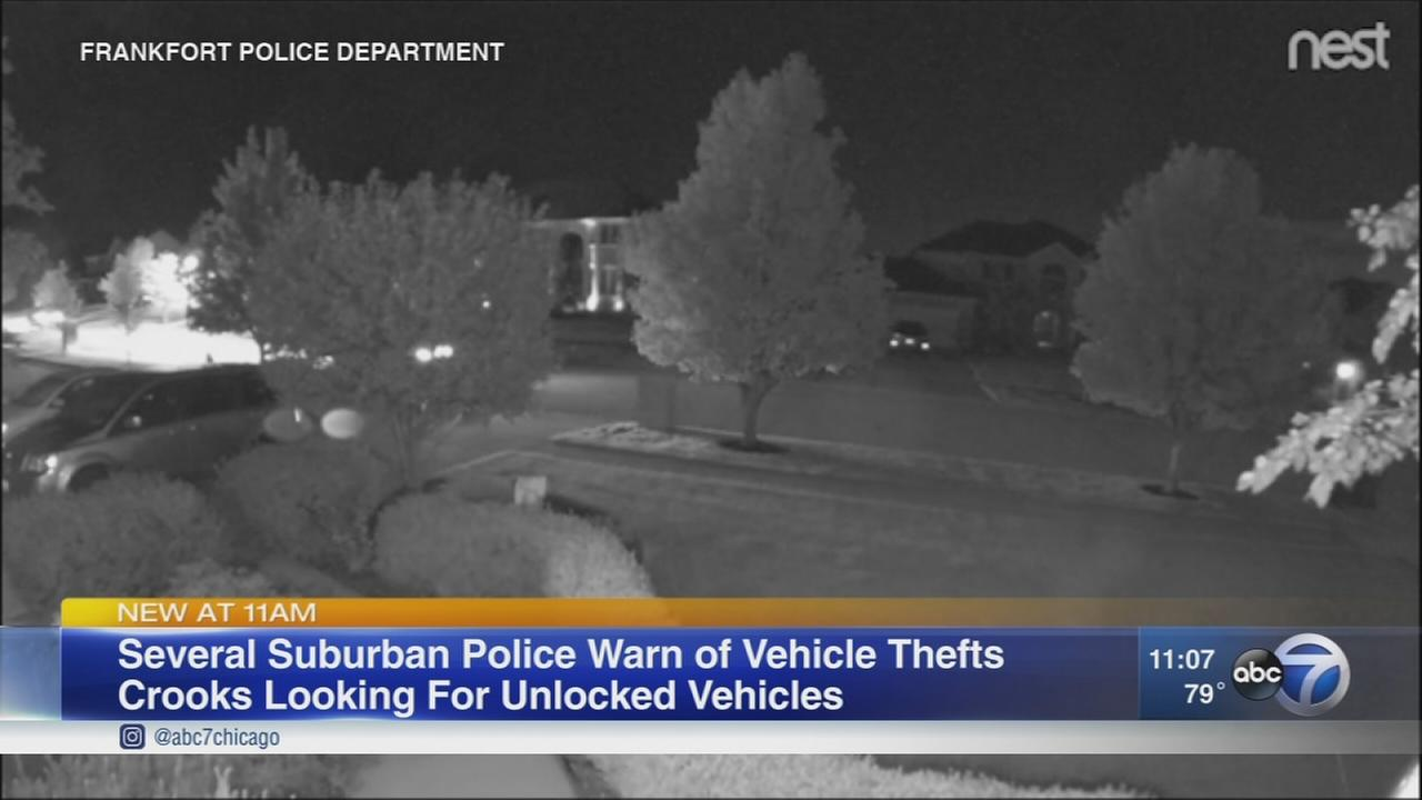 Frankfort car burglaries