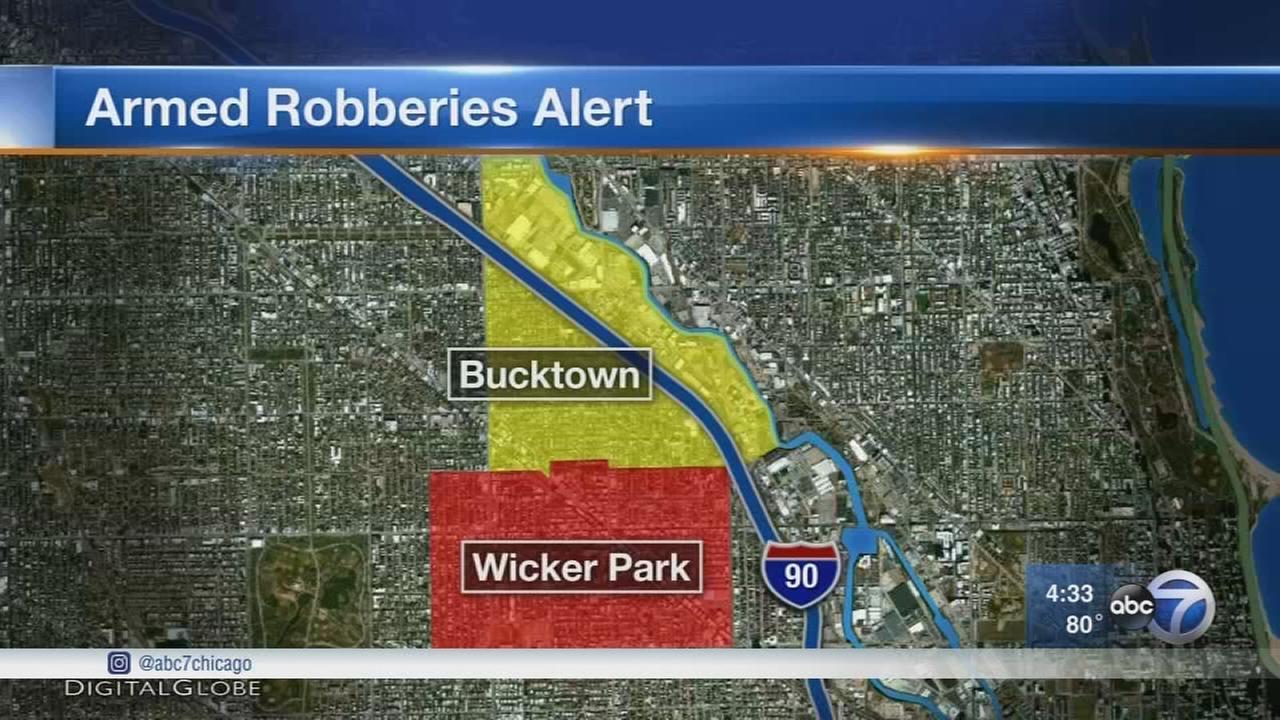 Armed robbers target people in Wicker Park, Bucktown