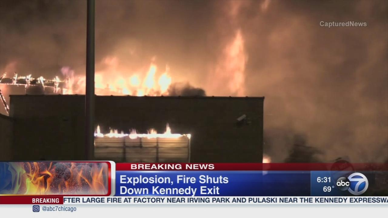 Explosion and fire closes Kennedy exit