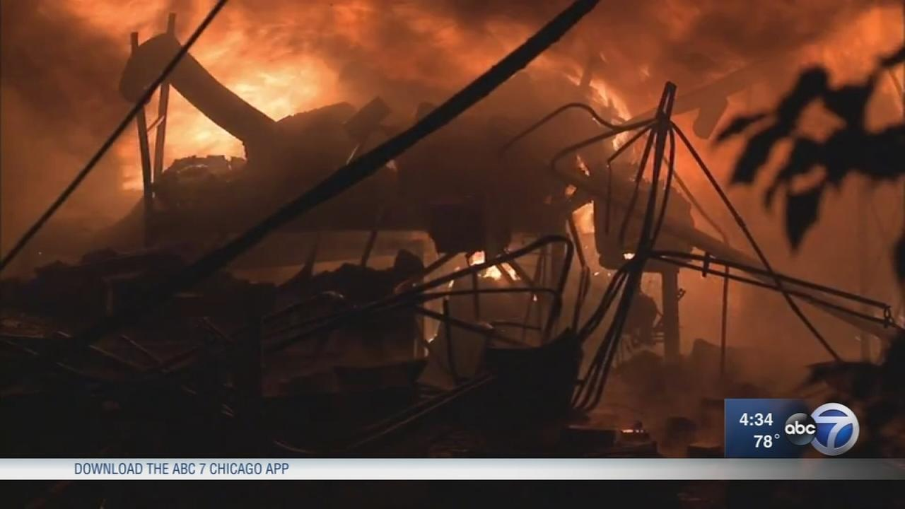 Fire destroys Old Irving Park metal plating business near Kennedy