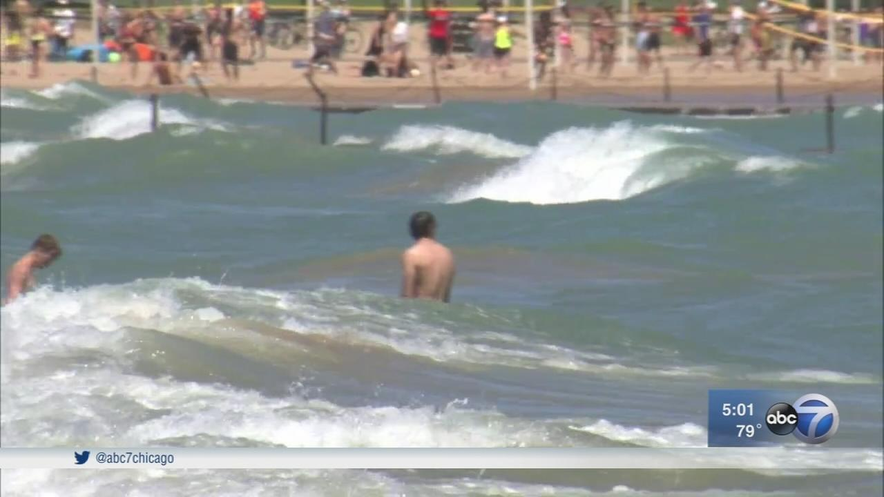 2 men die after being pulled from Lake Michigan
