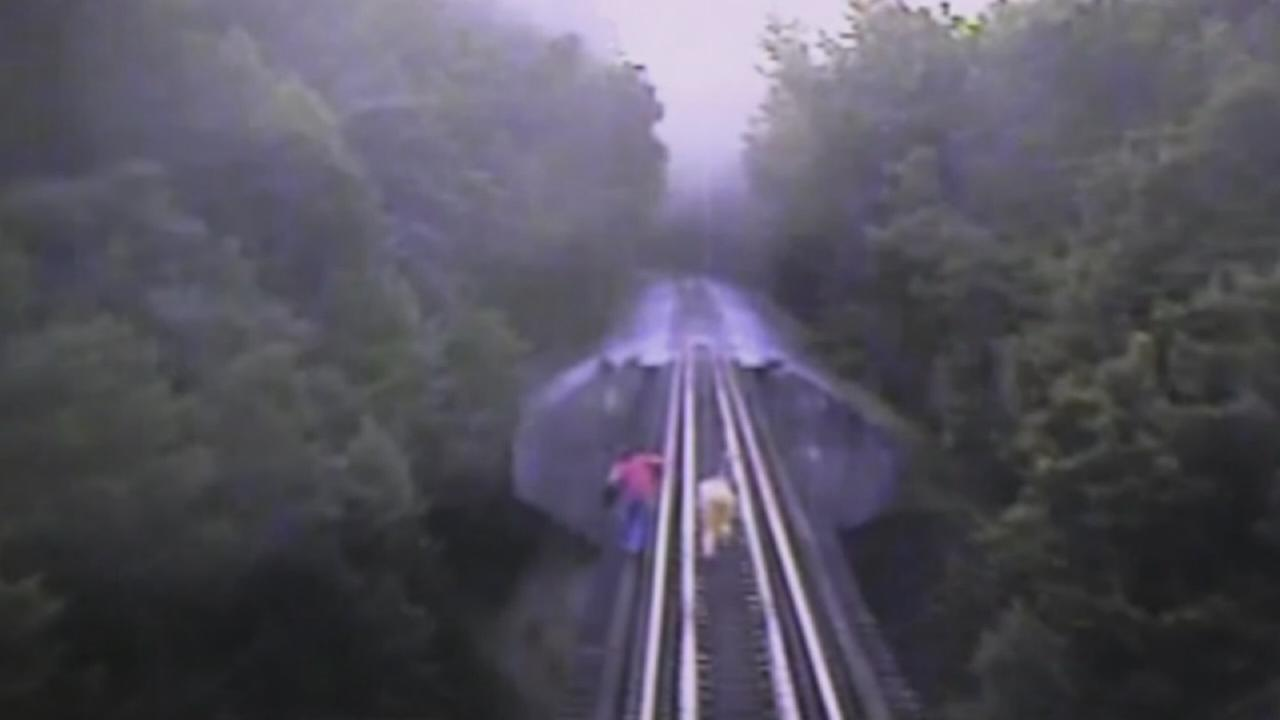 Indiana train bears down on two trespassers