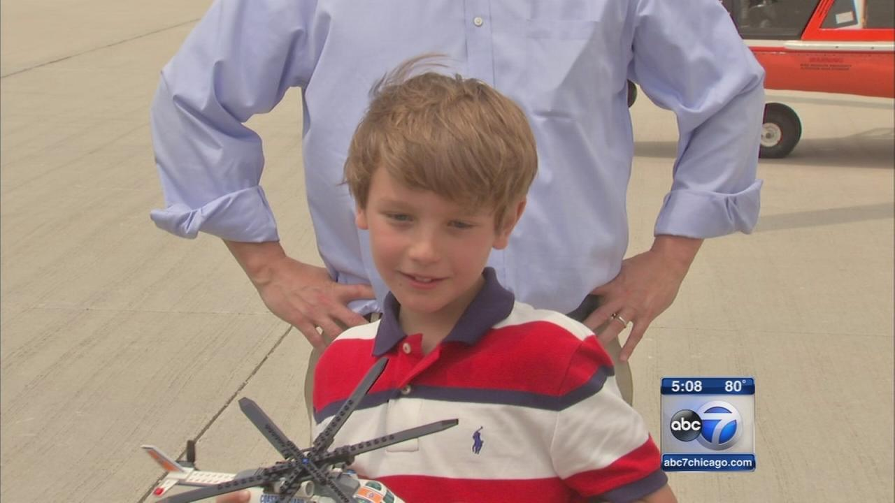 Highland Park boy, 9, meets his rescuers
