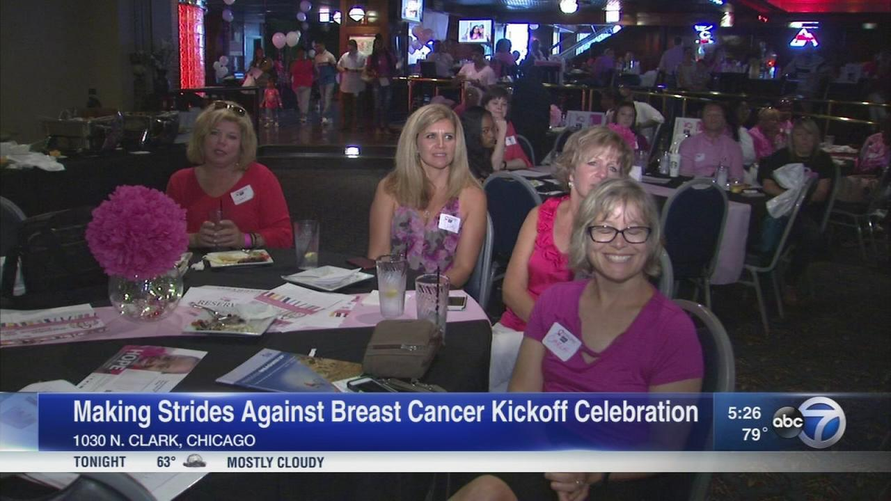 Making strides against breast cancer kickoff