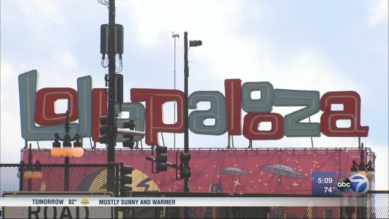 Lollapalooza cleanup underway in Grant Park