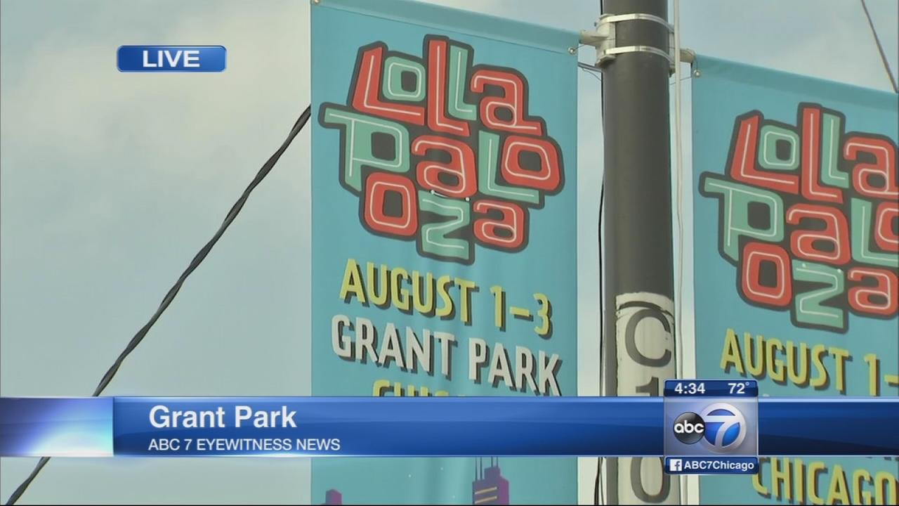 Grant Park readies for Lollapalooza