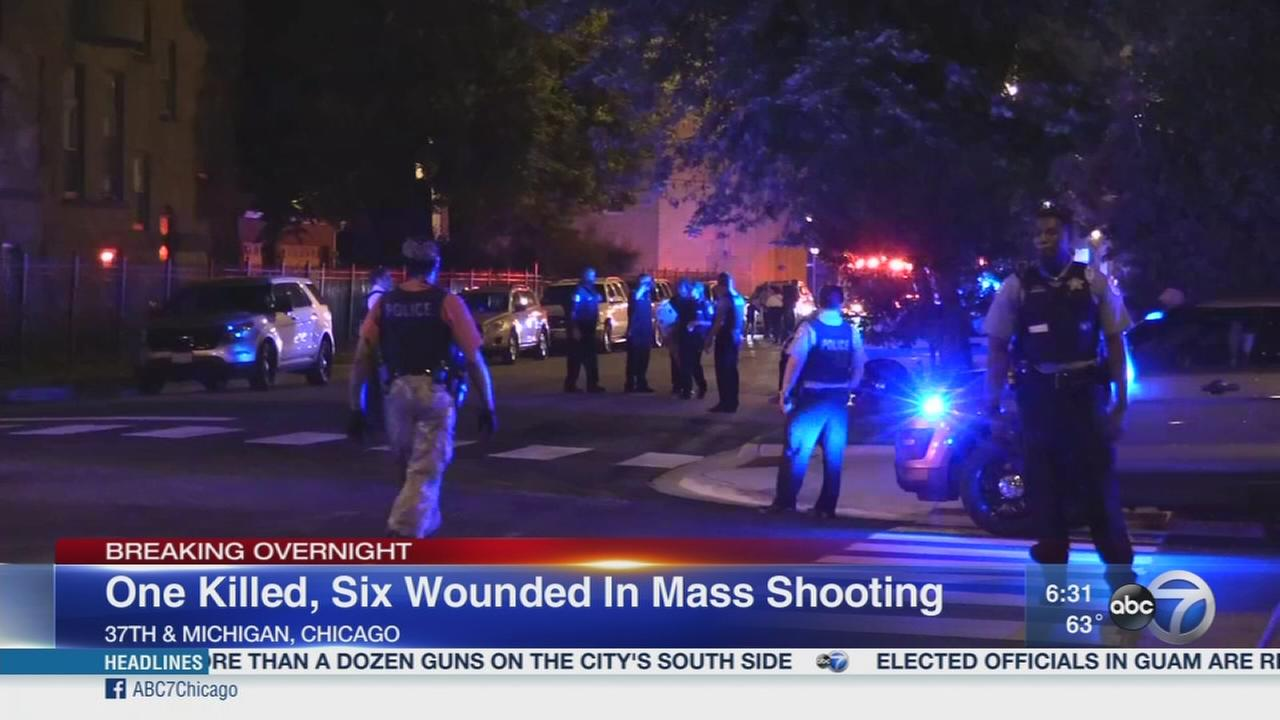 7 shot, 1 fatally, in mass shooting