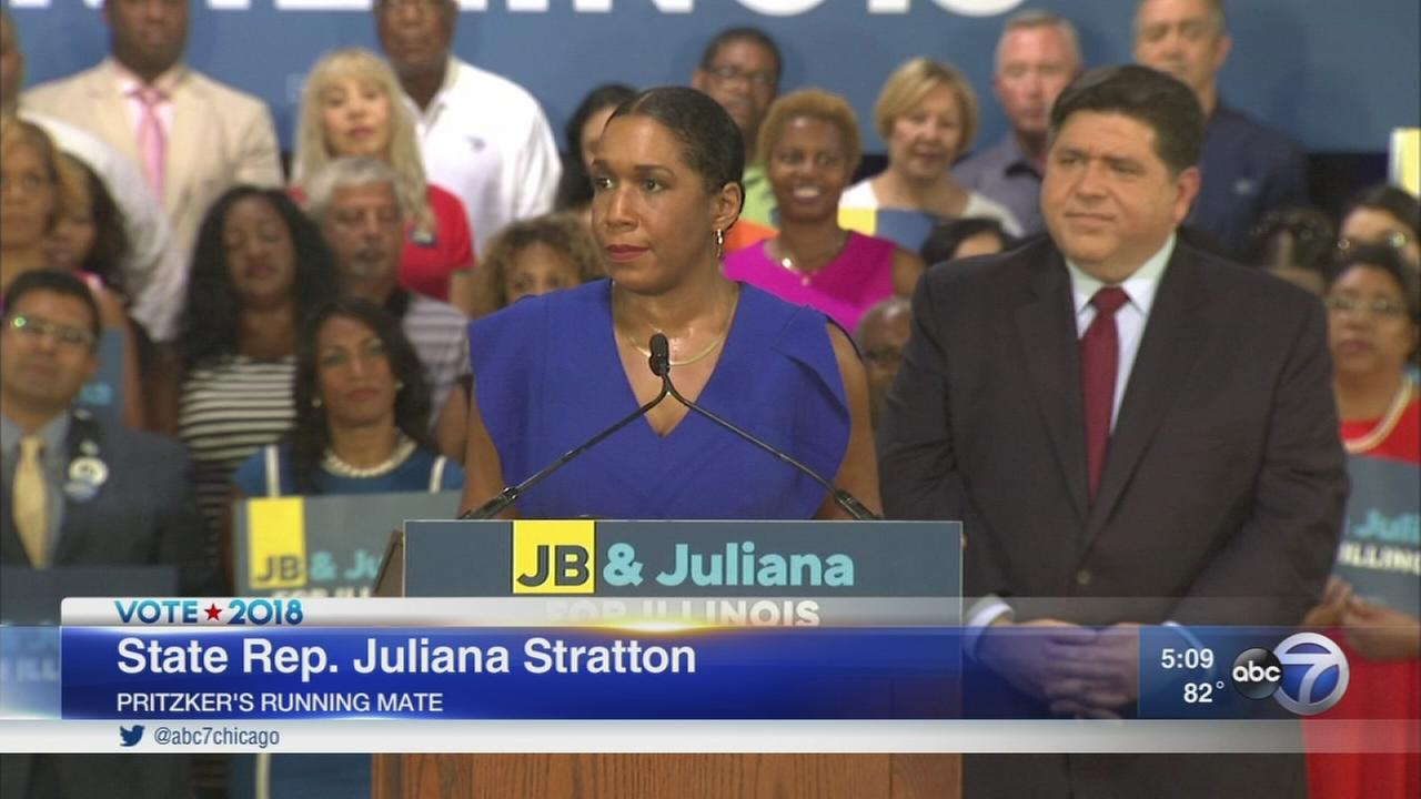 Pritzker chooses Rep. Juliana Stratton as 2018 running mate