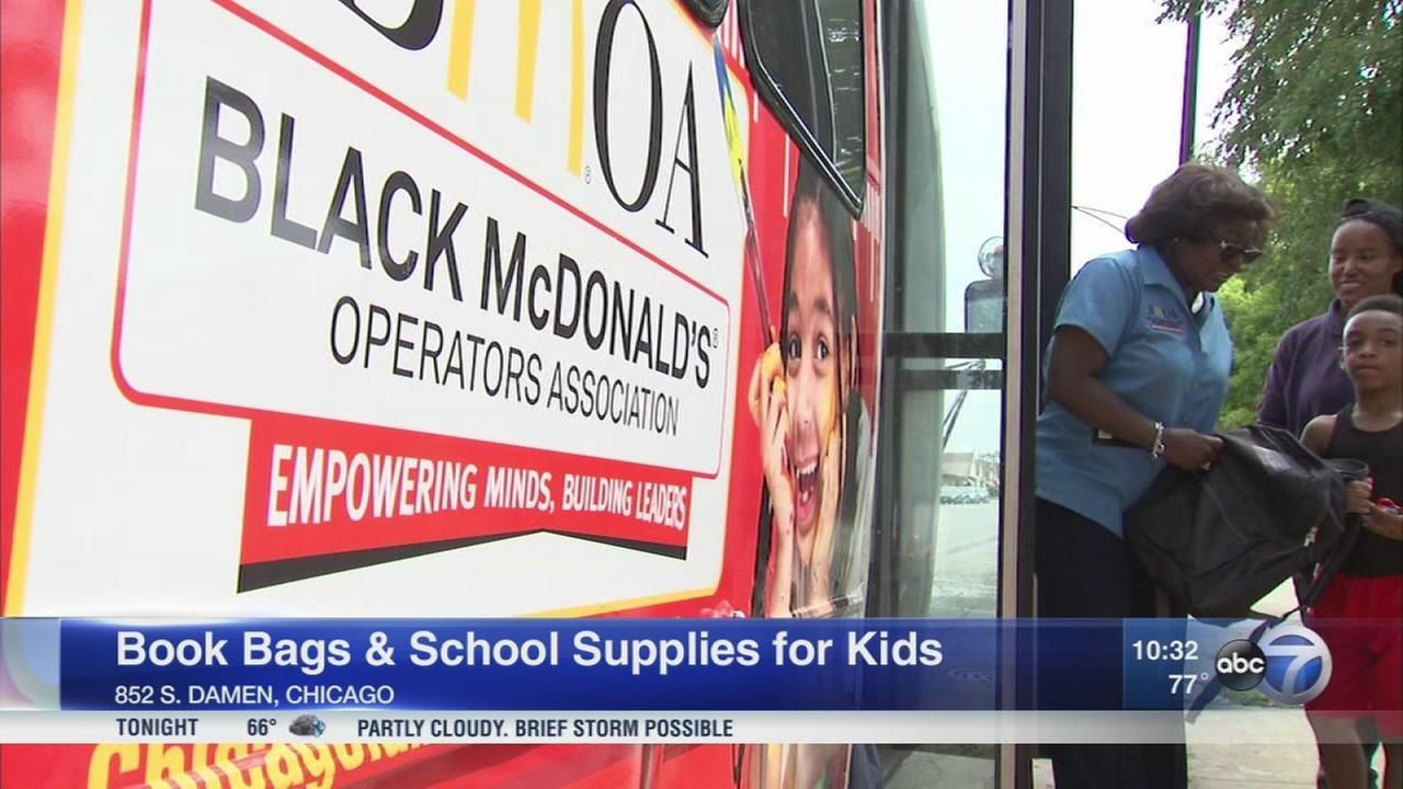Black McDonald?s Operators Association gives out bookbags, school supplies