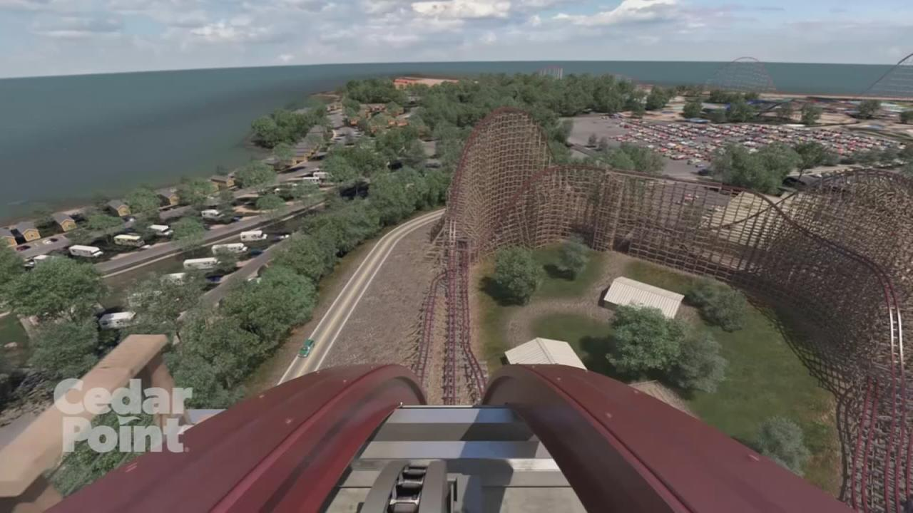 Virtual ride on Cedar Points new rollercoaster