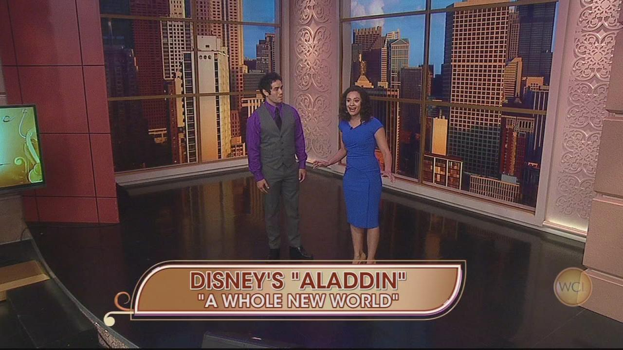 Stars of Aladdin perform