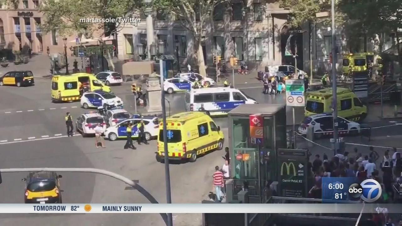 13 dead, more than 100 hurt in Barcelona van attack