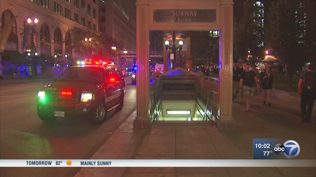 1 shot at CTA Red Line station in Loop