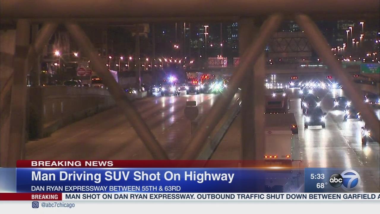 Driver shot on Dan Ryan Expressway