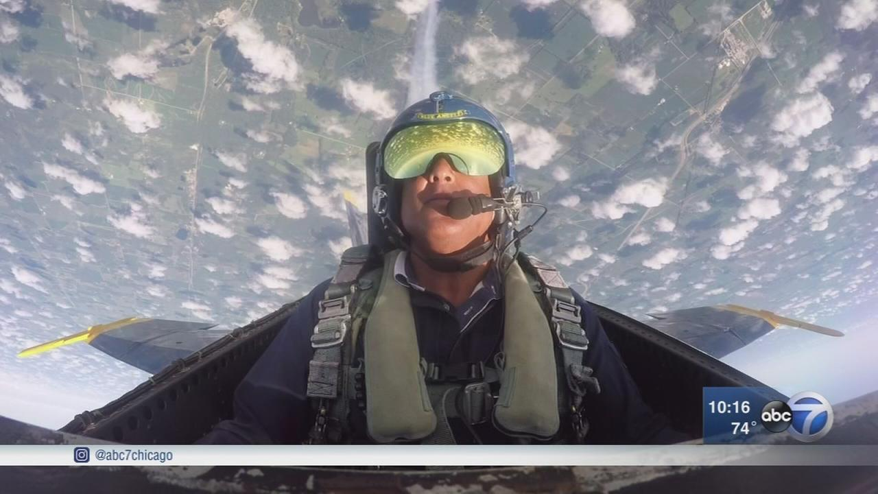 ABC7s Ravi Baichwal flies high with Blue Angels