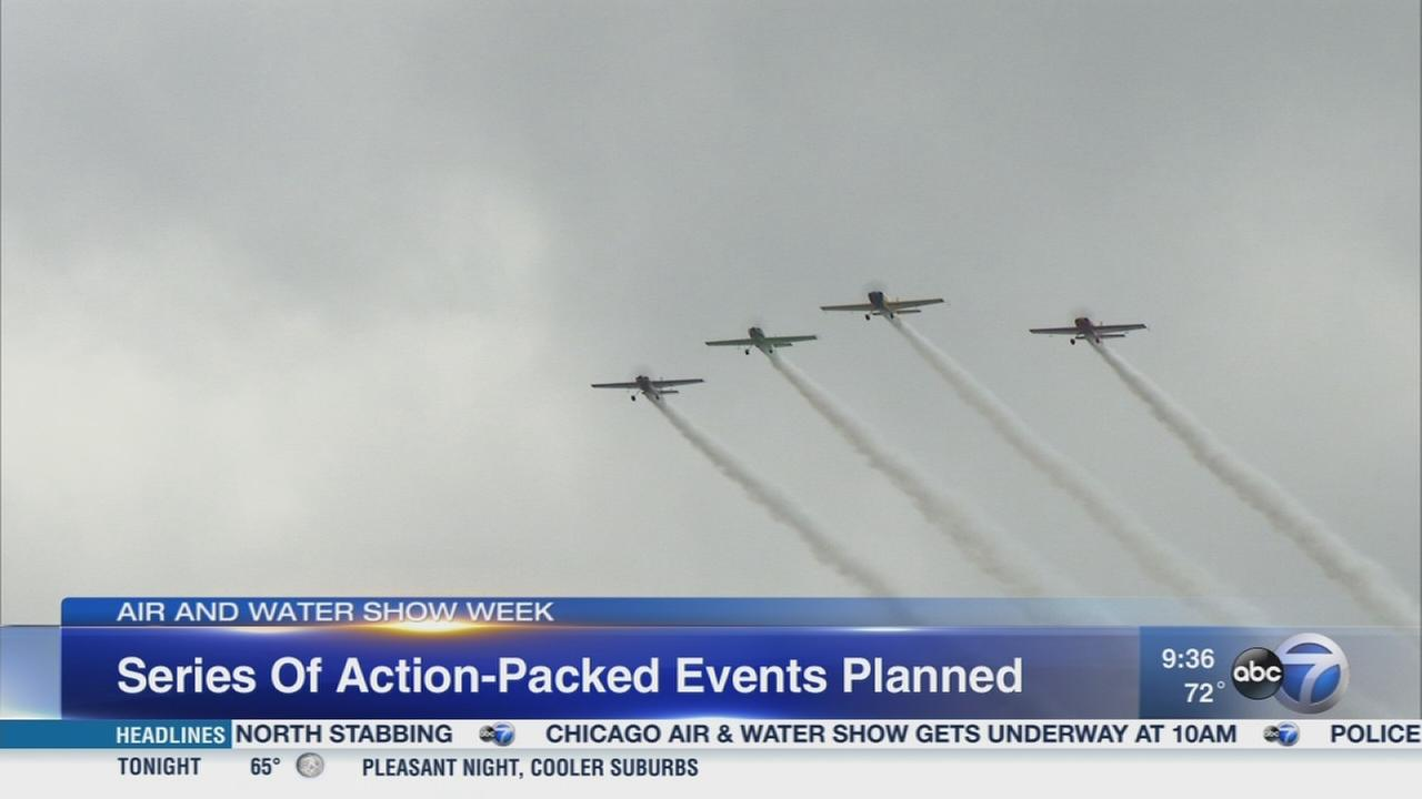 59th Chicago Air and Water Show gets underway Saturday