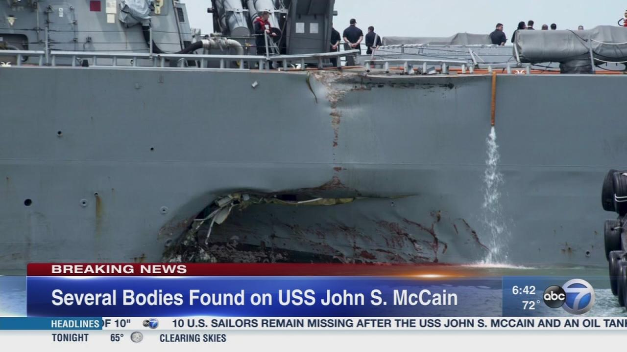 Several bodies found on USS John McCain