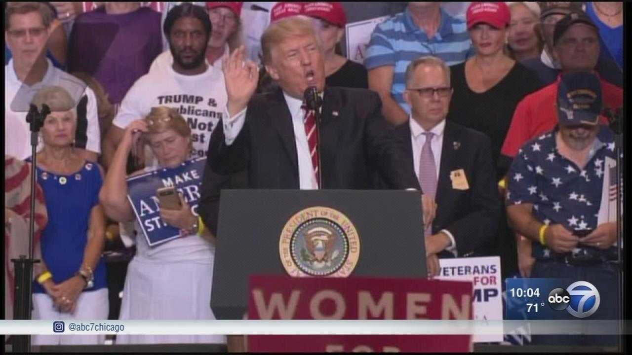 Trump speech in Phoenix draws big crowd, protests