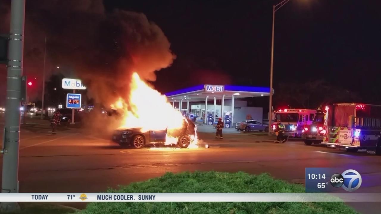 Family demands answers after luxury car bursts into flames