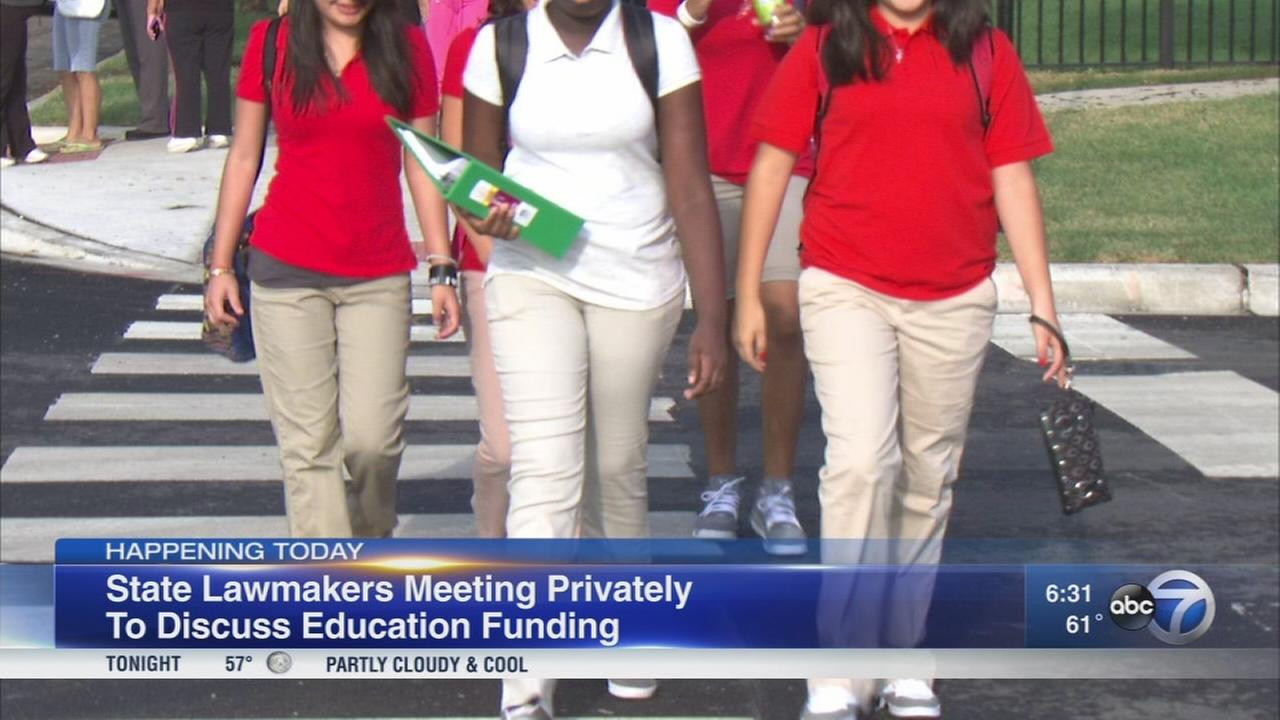 Illinois legislative leaders to meet on school funding talks