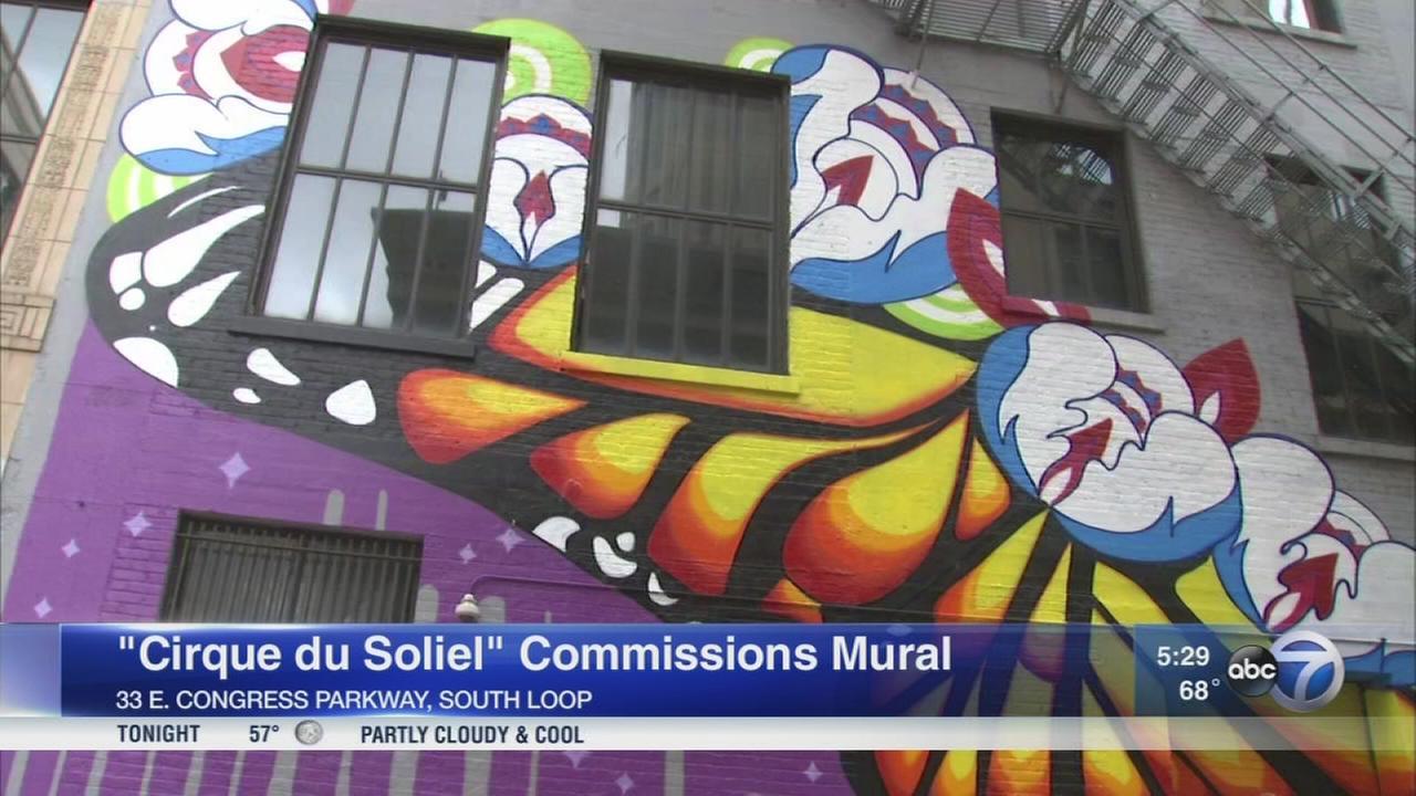 Cirque du Soleil commissions mural