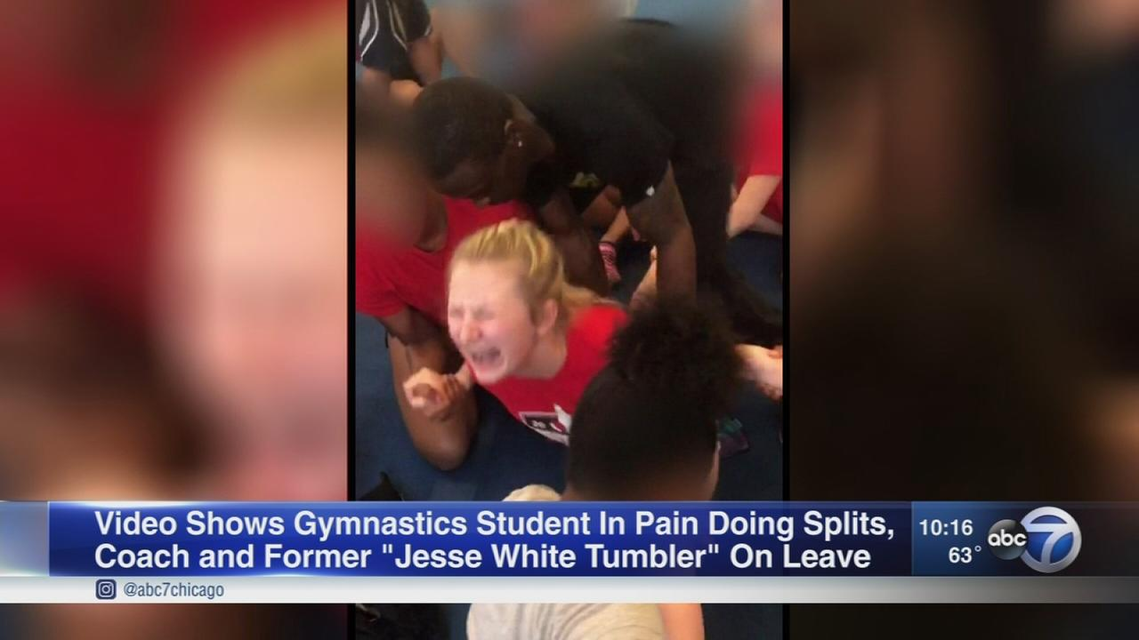 Videos show high school cheerleaders forced into splits