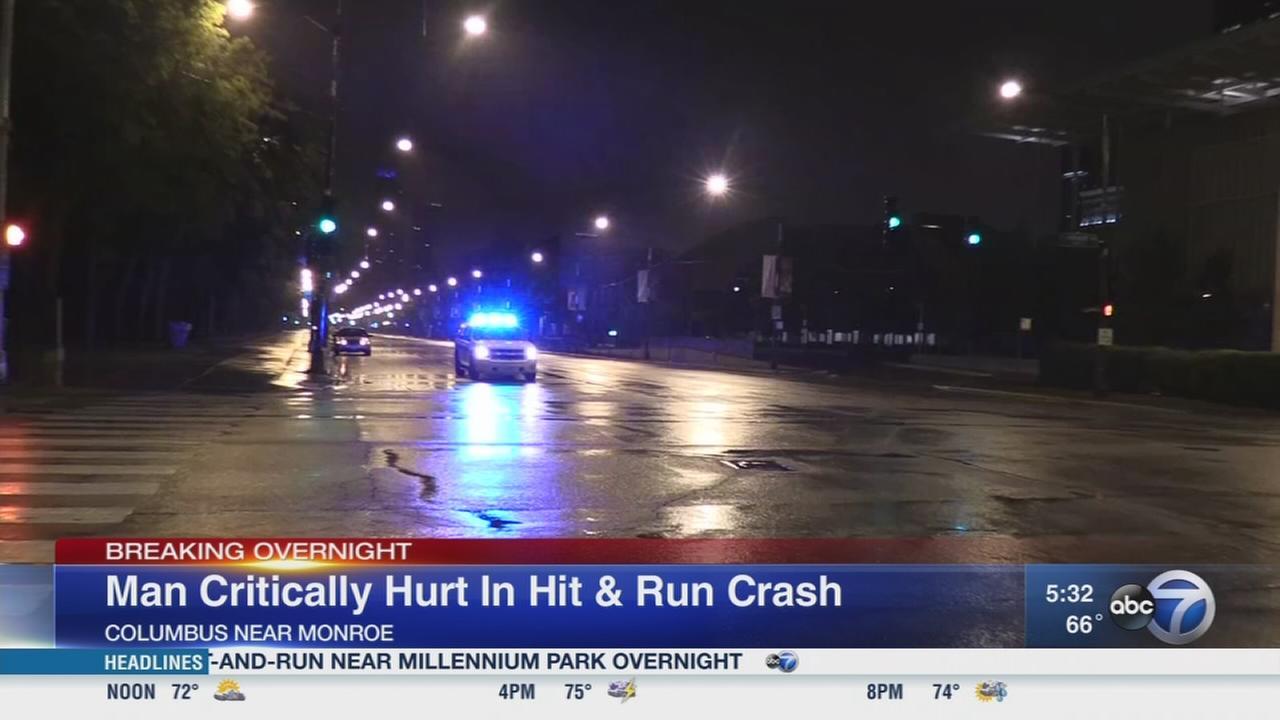 Man critically injured in hit-and-run near Millennium Park