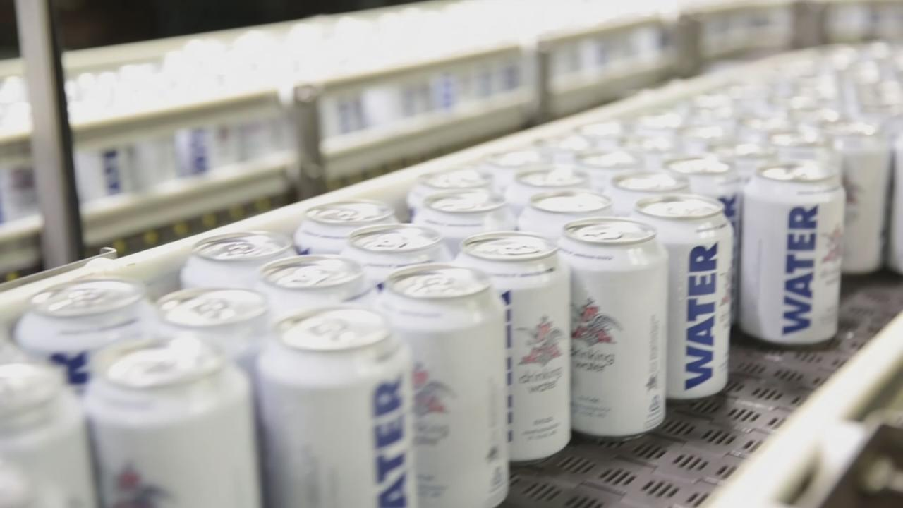 Anheuser-Busch donating canned water to Harvey victims