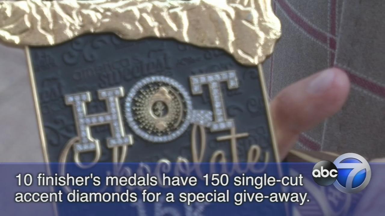 Diamond-encrusted medals to be given away at Hot Chocolate Race