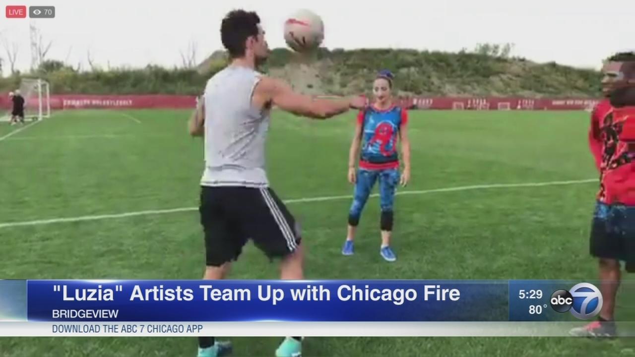 Cirque du Soleil and Chicago Fire team up