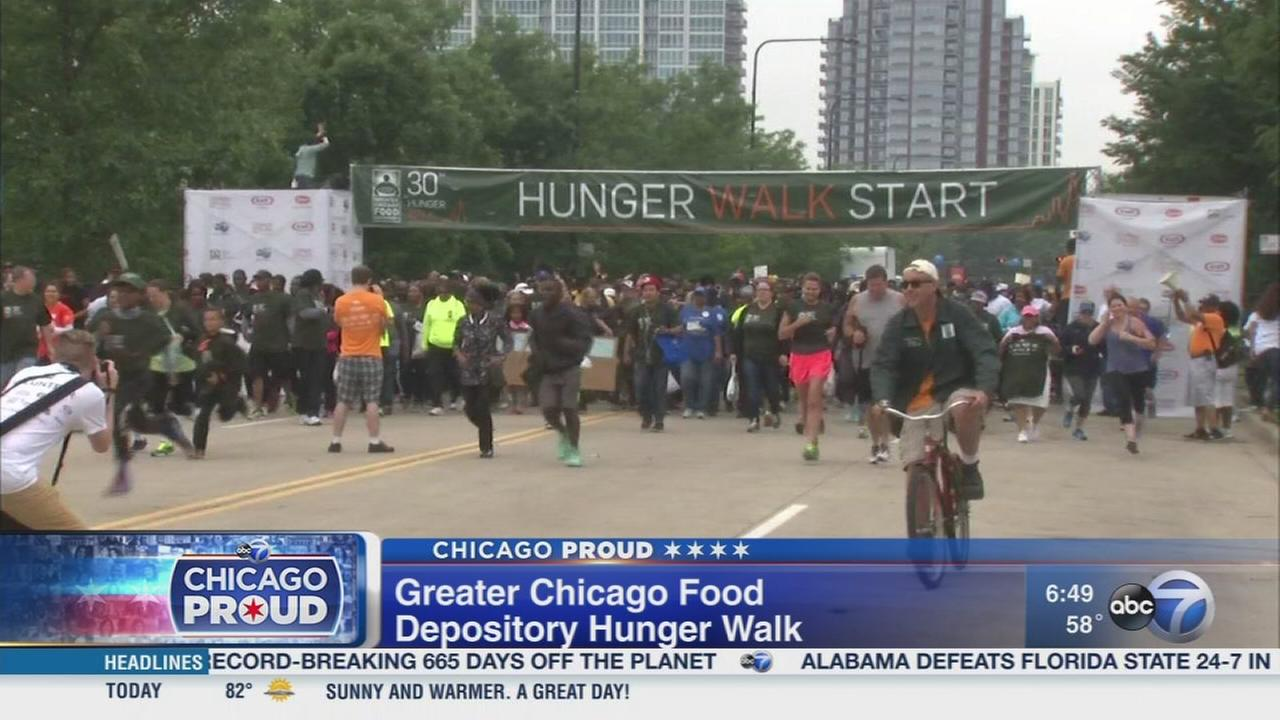 Support food pantries and shelters at the Hunger Walk
