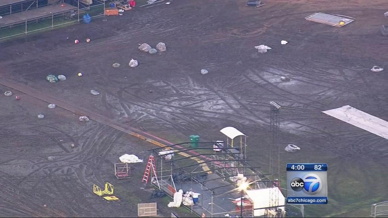 Lollapalooza cleanup underway at Grant Park