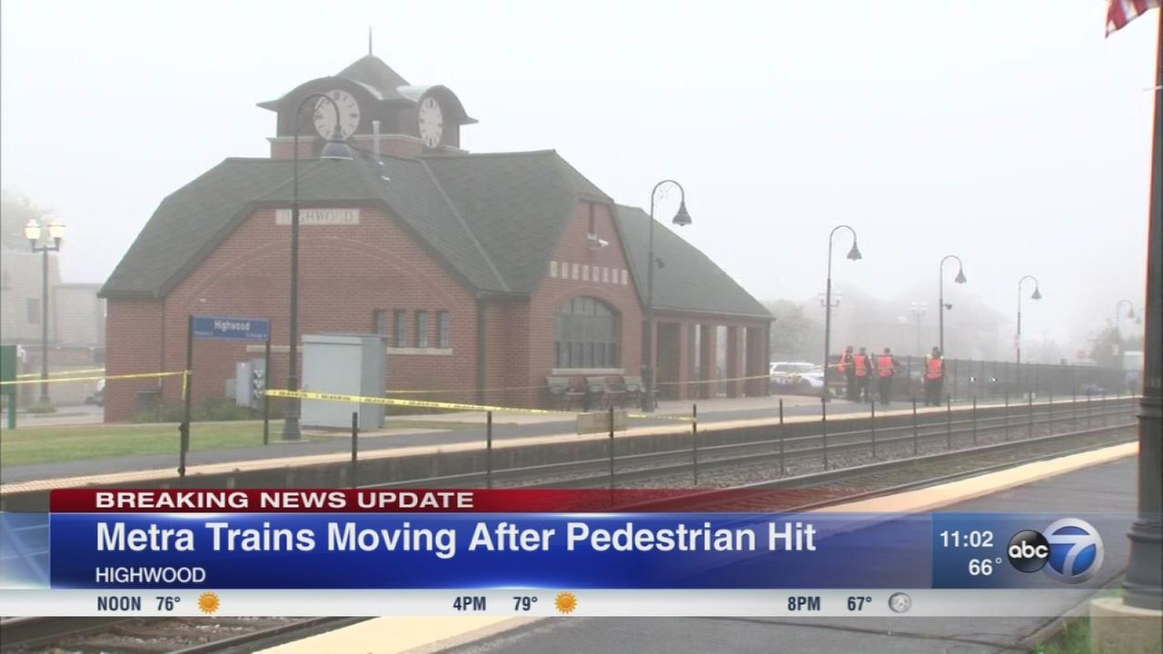 Metra trains moving after pedestrian killed