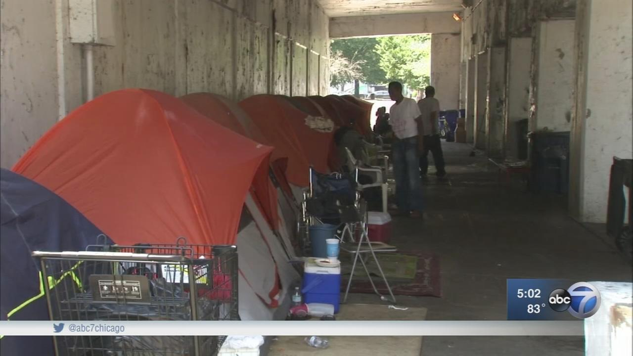 Homeless residents move to avoid eviction