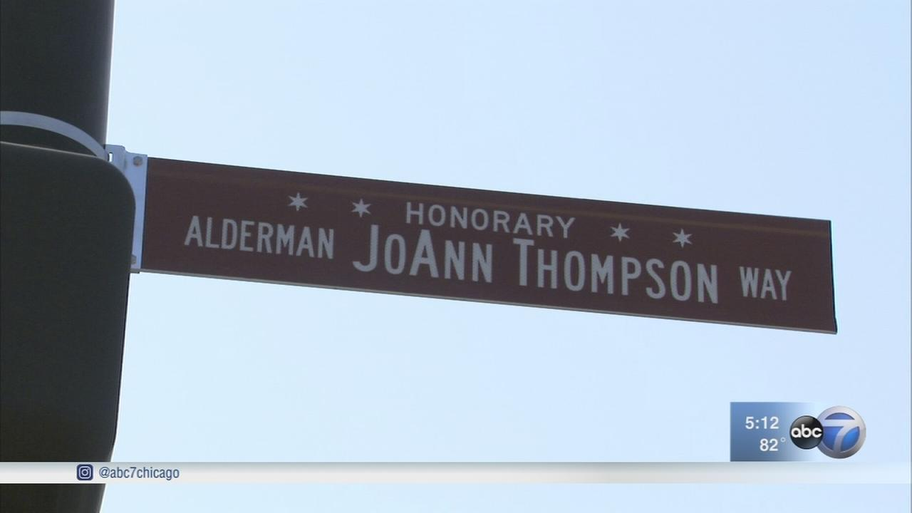 Late alderman honored with street sign