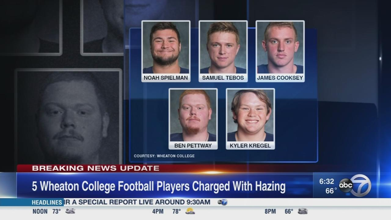 5 Wheaton College football players charged with hazing