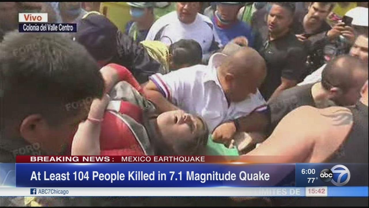 7.1 magnitude quake kills 104 as buildings collapse in Mexico