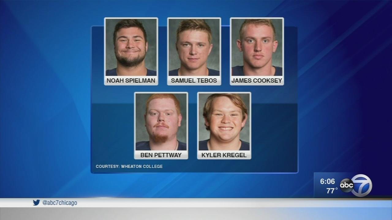 First of 5 Wheaton College football players charged in hazing turns himself in