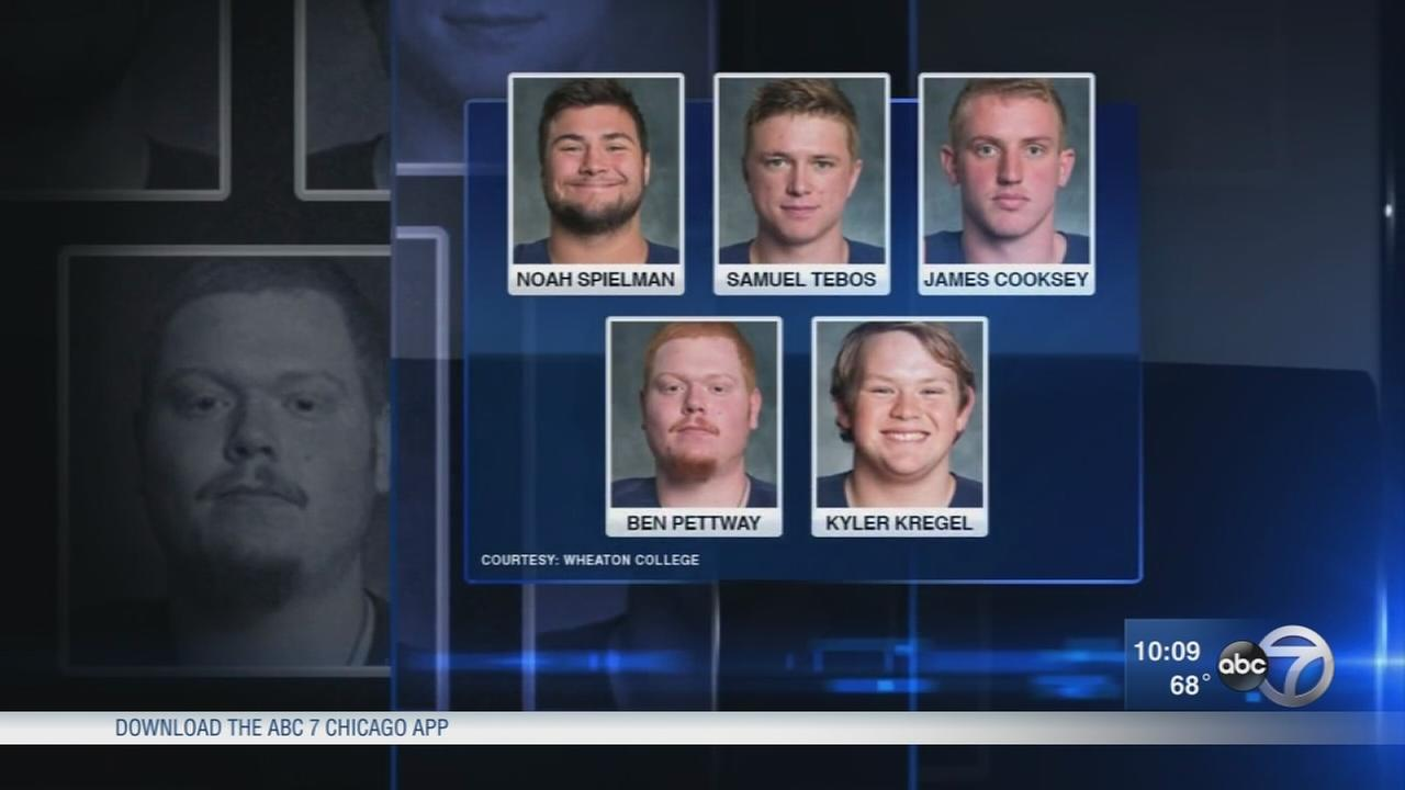 First of 5 Wheaton College football players charged in hazing turns himself in to police