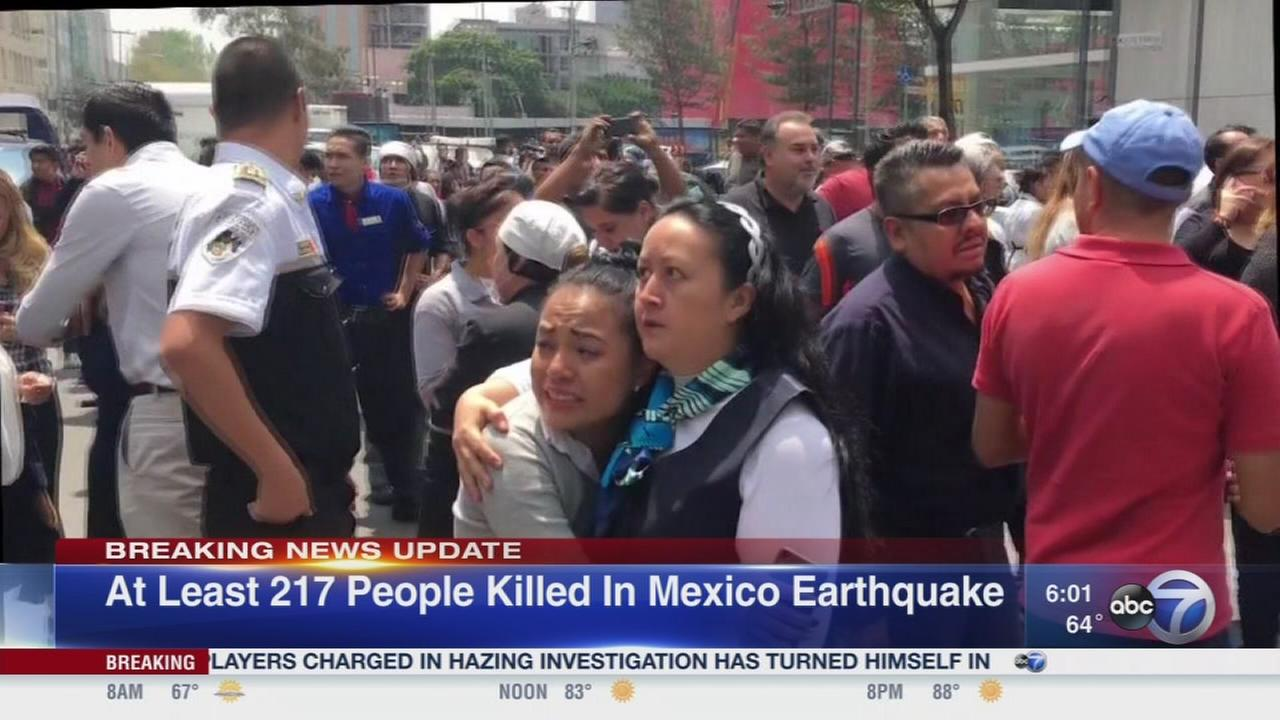 Mexico quake kills at least 217