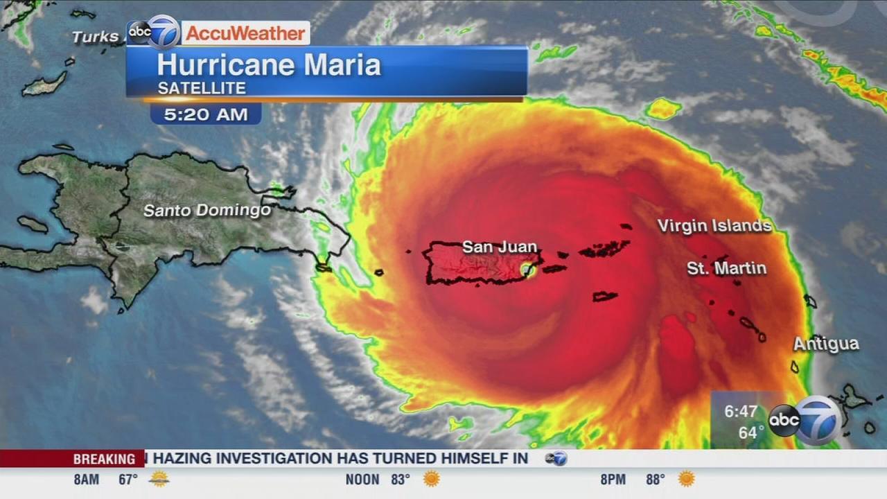 Hurricaen Maria hits Puerto Rico