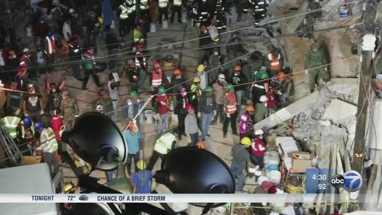Search for earthquake survivors continues
