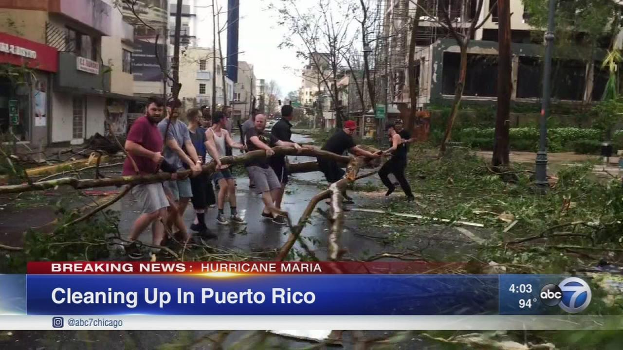 Cleaning up in Puerto Rico